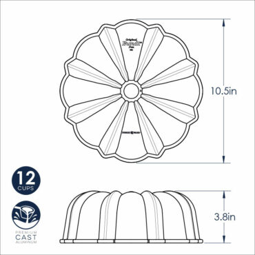 Dimensional Drawing Procast 12 Cup Bundt