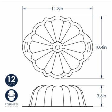 Dimensional Drawing , ProForm Bundt Pan with Handles