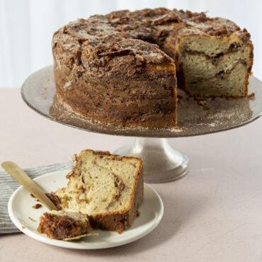 Baked Tube Cake With Slice