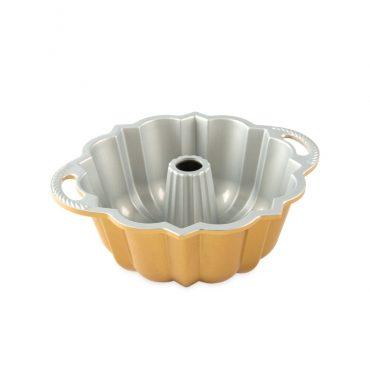 Cast aluminum 6 Cup Anniversary Bundt® Pan, silver nonstick interior