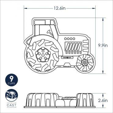 Tractor Pan Dimensional Drawing