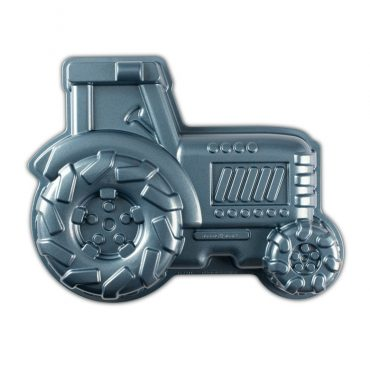 Tractor Cake Pan, blue exterior color