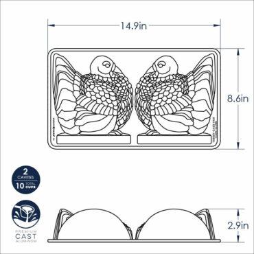 Classic Turkey Pan, dimensional drawaing image