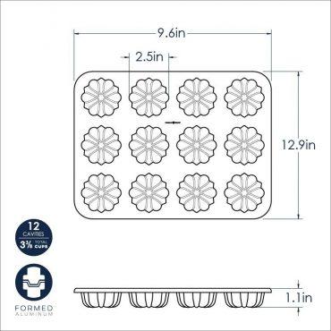 Dimensional Drawing Mini Bundt Cupcake Pan