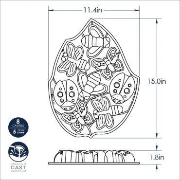 Backyard Bugs Pan Dimensional Drawing