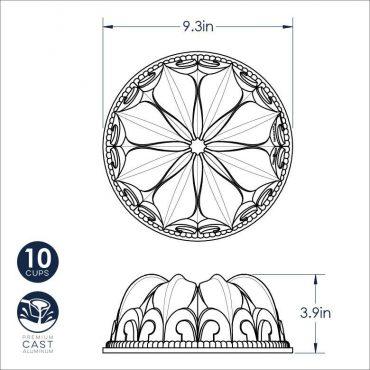 Fleur De Lis Dimensional Drawing