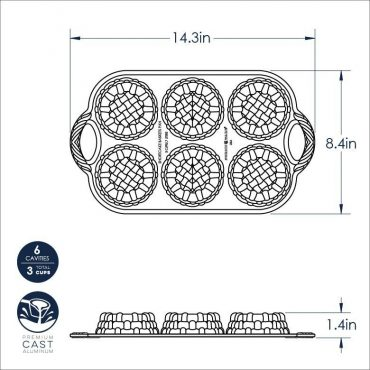 Shortcake Baskets Pan Dimensional Drawing