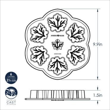 Dimensional Drawing Maple Leaf Pan