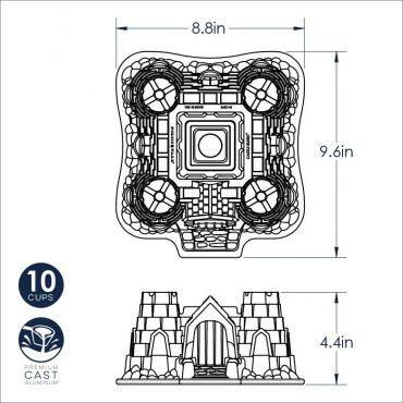Castle Bundt® Pan Dimensional  Image