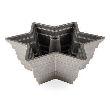 Star Of David Bundt® Pan, silver nonstick interior