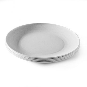Set of 4 Microwave Safe Picnic Plates, stacked