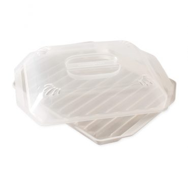 Compact Bacon Tray with Lid at and angle