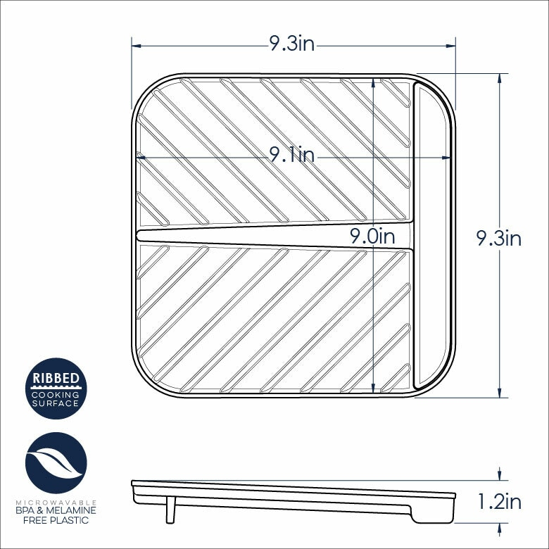 Large Slanted Bacon Tray and Food Defroster