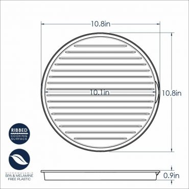 2 Sided Bacon Round Rack Dimensional Drawing