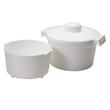 Microwave Rice Cooker, pot and steamer basket