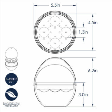 Microwave Egg Boiler Dimensional Image