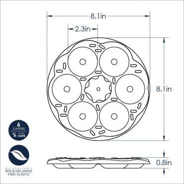 Donut Bites Pan Dimensional Drawing