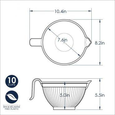 Better Batter Bowl Dimensional Drawing