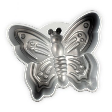 Butterfly Cake Pan, silver nonstick interior