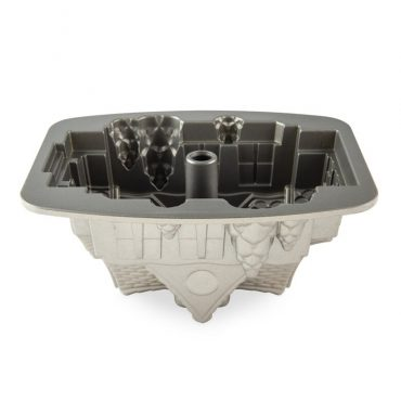 Gingerbread House Bundt® Pan, silver nonstick interior