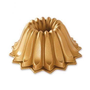 Lotus Bundt® Pan, gold exterior