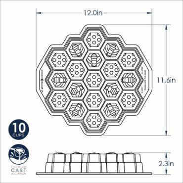 Dimensional Drawing, Honeycomb Pull-apart pan