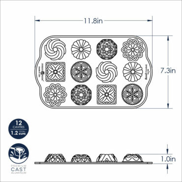Bundt® Charms dimensional drawing image