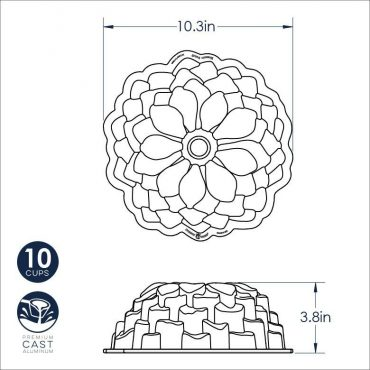 Blossom Bundt Dimensional Drawing