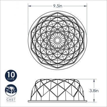 Jubilee Bundt dimensional drawing