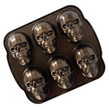 Haunted Skull Cakelet Pan, 6 cavitites