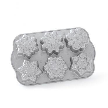 Frozen Snowflake Cakelet Pan, 6 snowflake designs