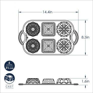 Dimensional Drawing of Geo Bundlette pan