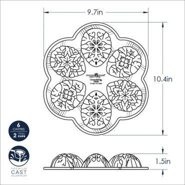 Dimensional drawing Ornamental Egg Cakelet