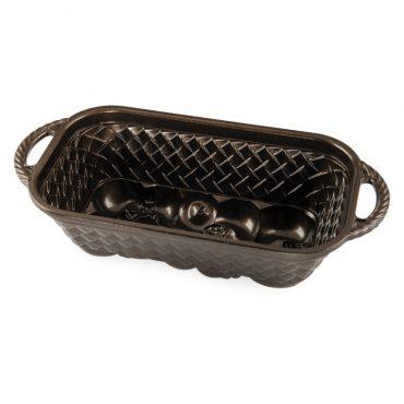 Apple Basket Loaf Pan, bronze nonstick interior