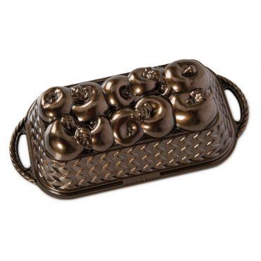 Apple Basket Loaf Pan, bronze exterior