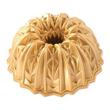 Cut Crystal Bundt® Pan, gold exterior