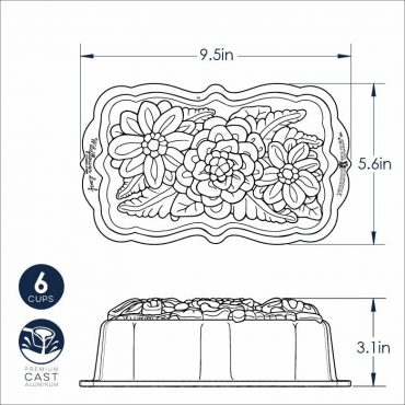 Wildflower Loaf Dimensional Drawing