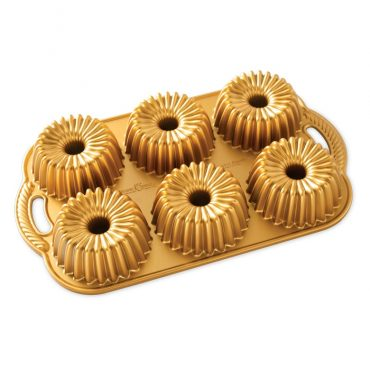Brilliance Bundtlette® Pan, 6 cavities, gold exterior