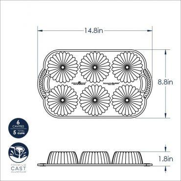 Brilliance Bundtlette Pan Dimensional Drawing