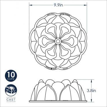 Magnolia Bundt Dimensional Drawing