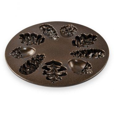 Woodland Cakelet Pan, bronze nonstick interior