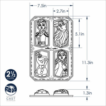 Dimensional Drawing Frozen Character Cakelet Pan