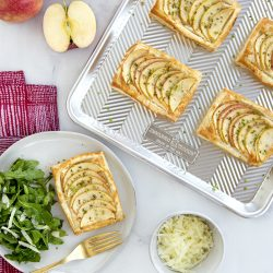 Apple and Manchego Cheese Mini Galettes