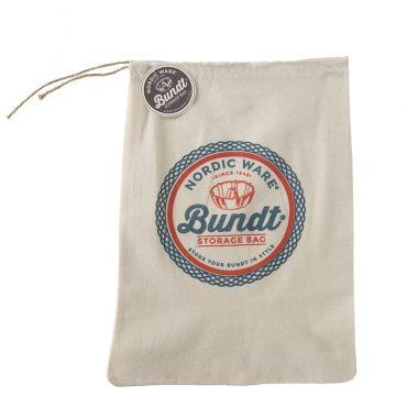 Bundt Storage Bag with logo on front and drawstring