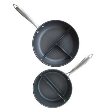 Divided  2-in-1 Sauce and 3-in-1 Saute Pan Set
