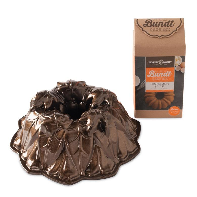 Harvest Leaves and Cinnamon Spice Bundt® Mix Set