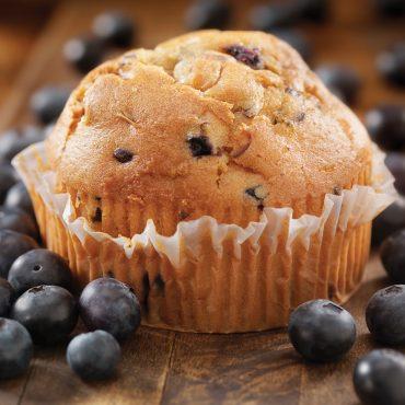 Baked blueberry muffin using Jumbo muffin pan