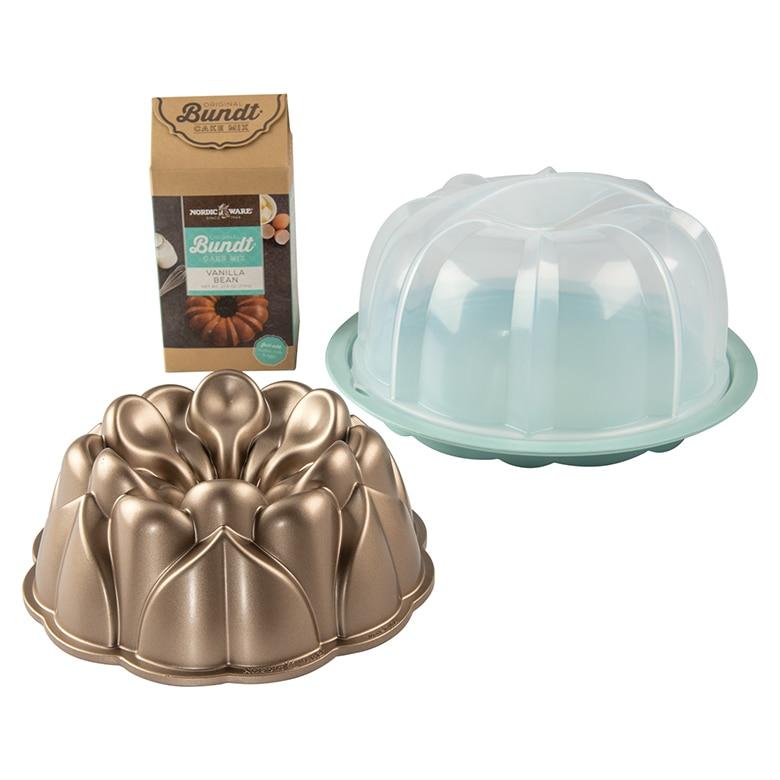 Magnolia Bundt®, Bundt® Keeper and Vanilla Bundt® Mix Set