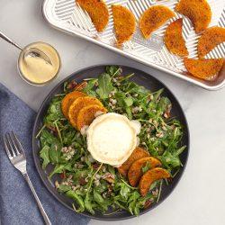 Roasted Butternut & Farro Harvest Salad with Creamy Apple Mustard Dressing
