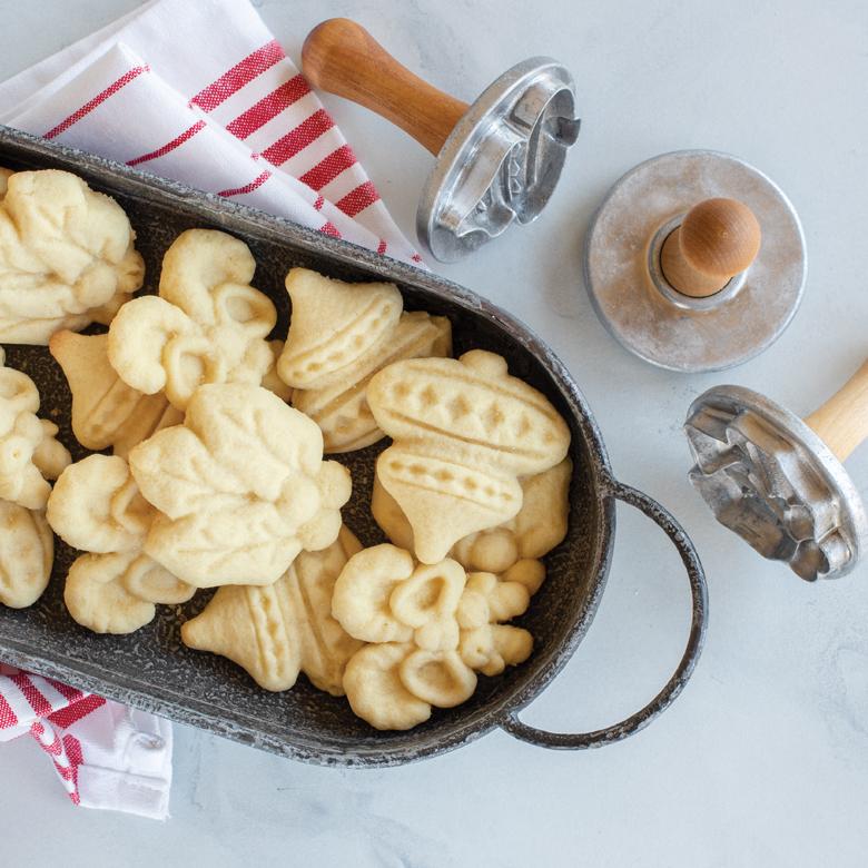 Almond Pressed Cookies